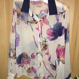 Collective Concepts sheer floral blouse S